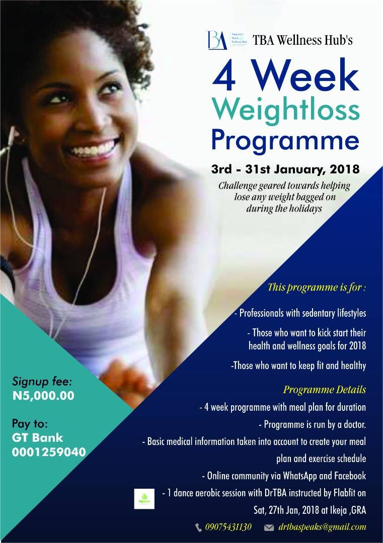 Wellness Expert, Dr Toyin Bode-Abass Brings on The January Weight Loss Challenge!